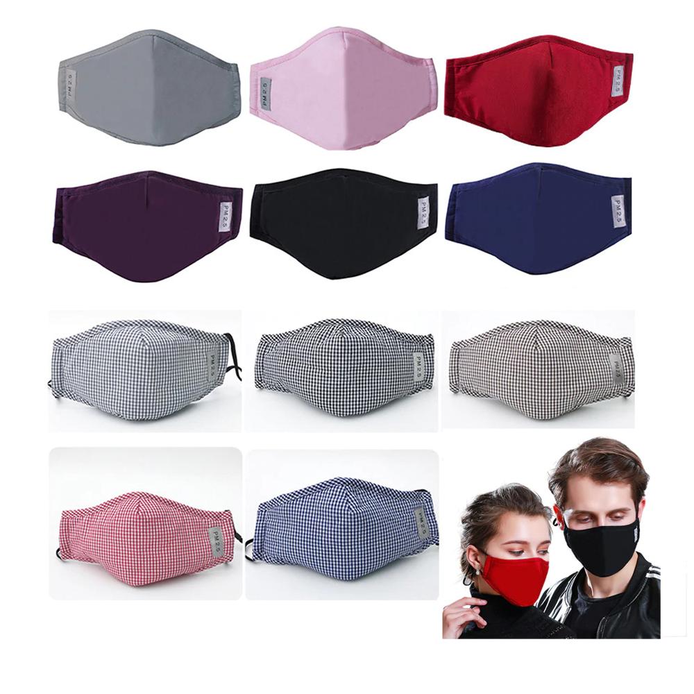 Details about PM2.5 Face Mask Reusable Washable Cotton
