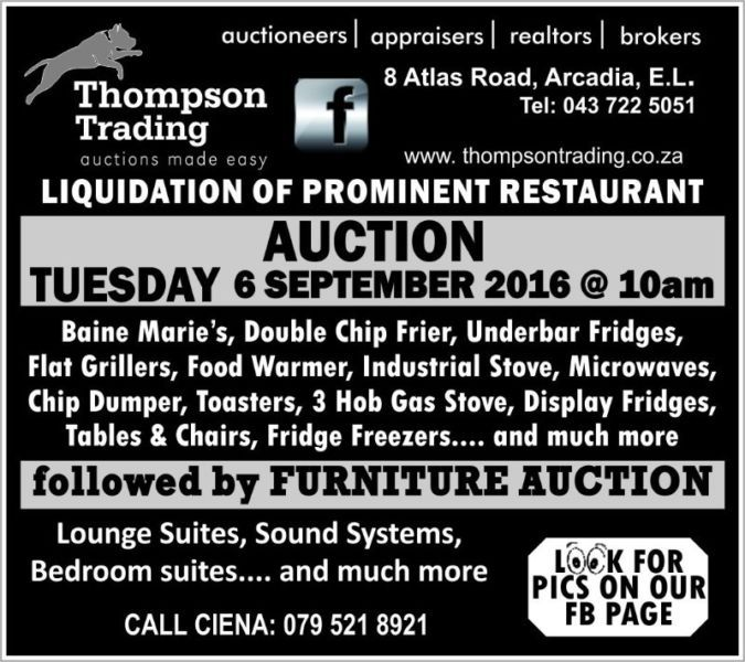 Lots Of Restaurant Equipment Available See Our Ad For More