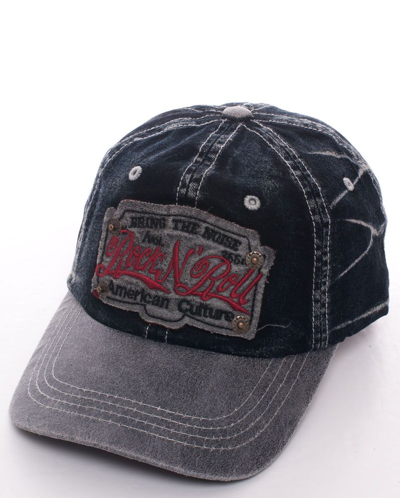 e69f0d84ff4 New Rock N  Roll Distressed Trucker Baseball Cap Hat 100% Cotton Black  SP   TruckerBaseball