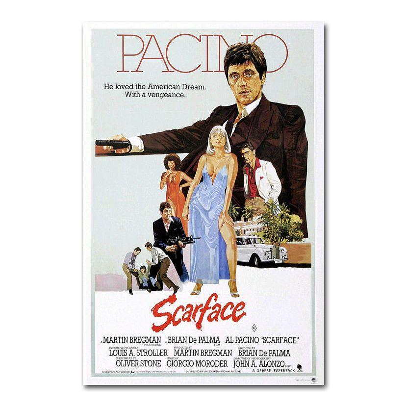 SCARFACE Art Silk Poster 12x18 24x36