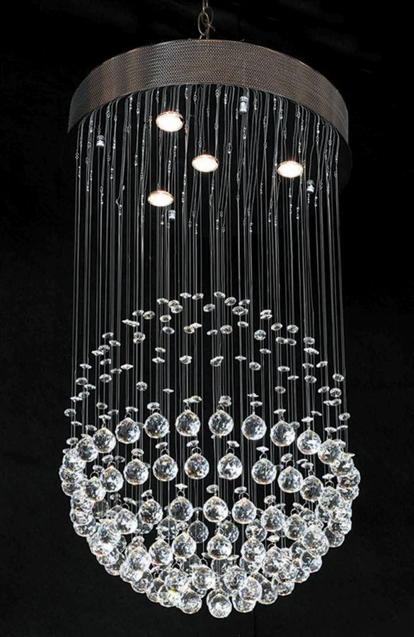 George Nelson Contemporary Crystal Chandelier