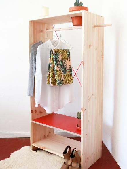 12 no closet clothes storage ideas clothes diy bedroom decor diy furniture for small spaces - Clothes storage for small spaces ...