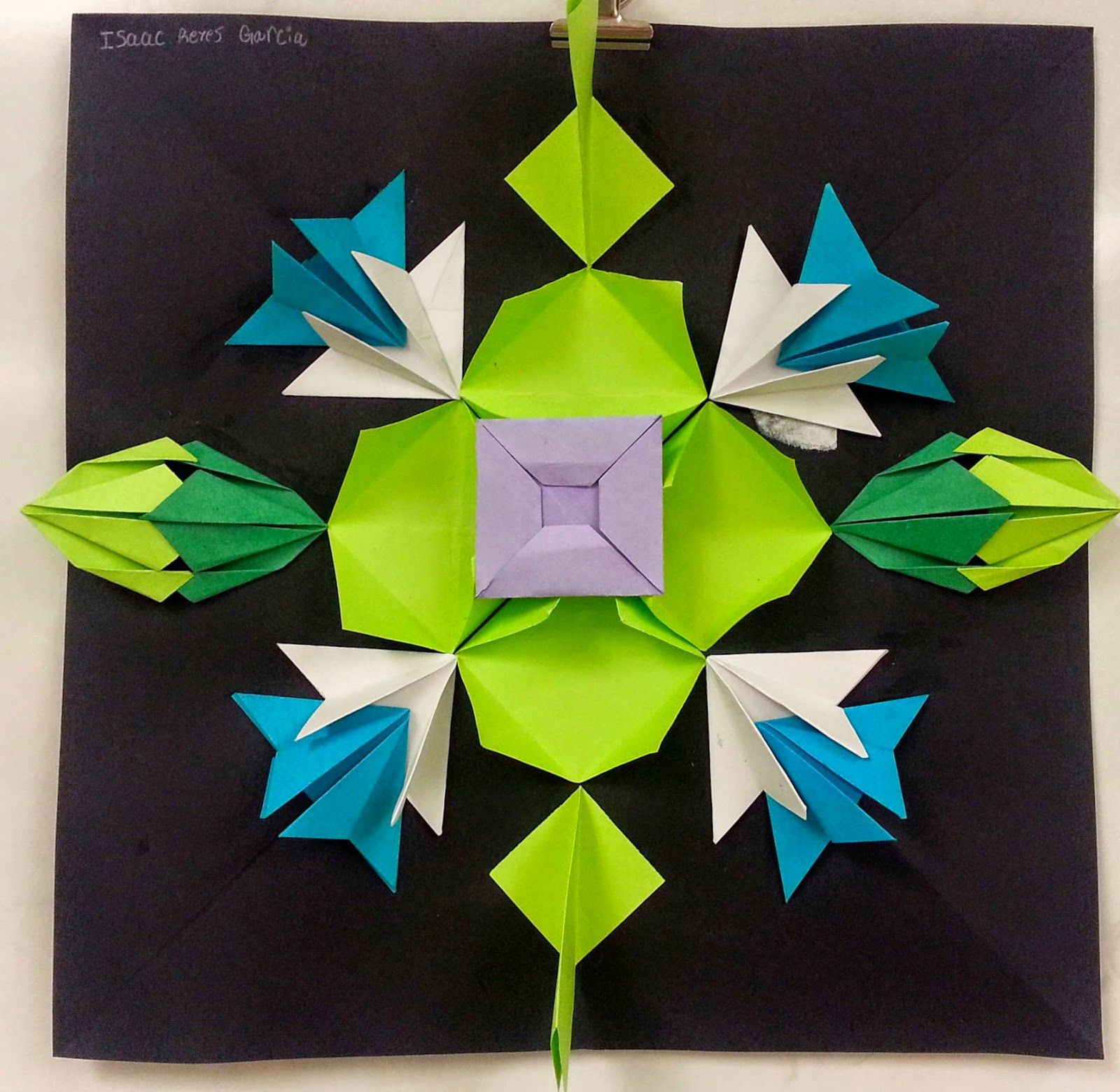 Art with ms gram radial paper relief sculptures 4th 5th for Paper folding art projects