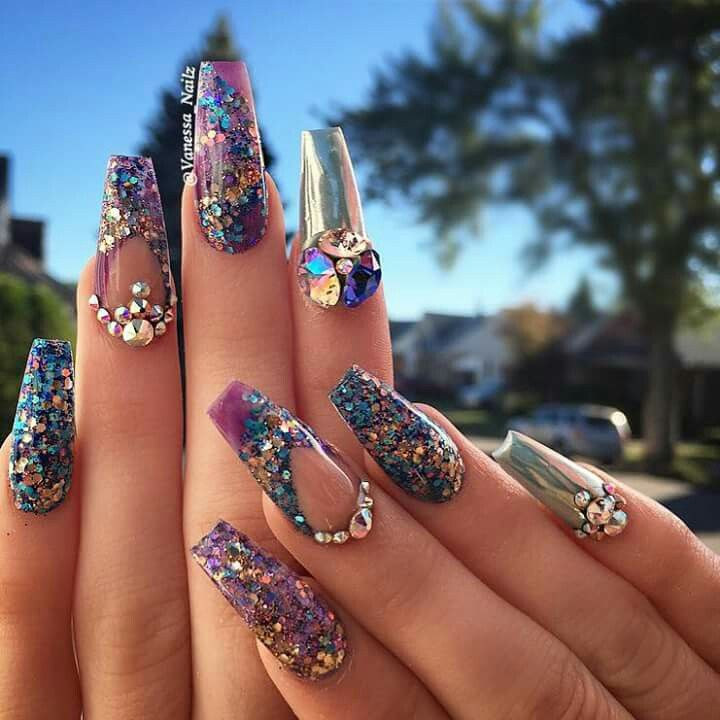 Full color nails.   Uñas   Pinterest   Color nails, Nail nail and ...