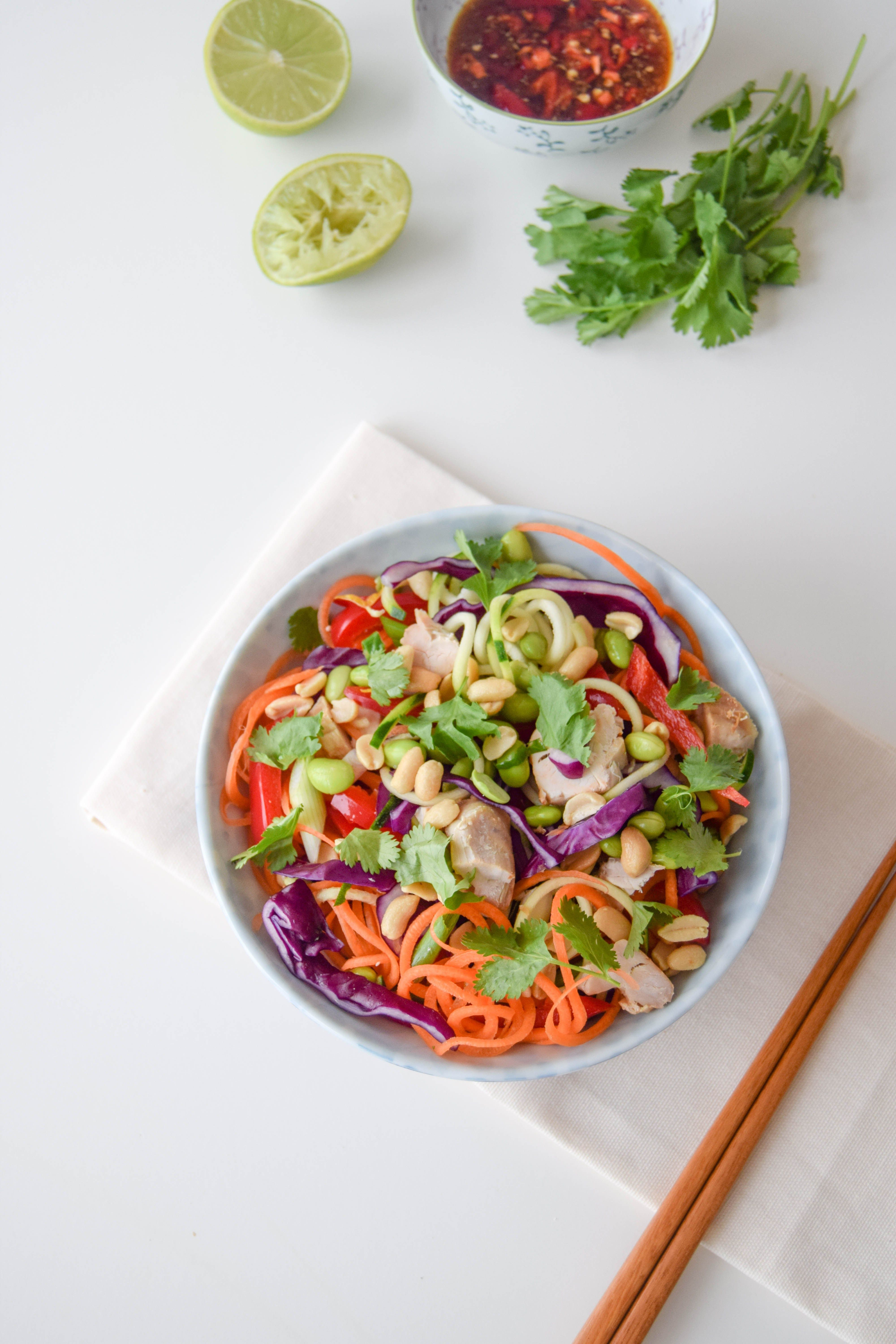 Chicken Pad Thai Salad - Celery and Cupcakes