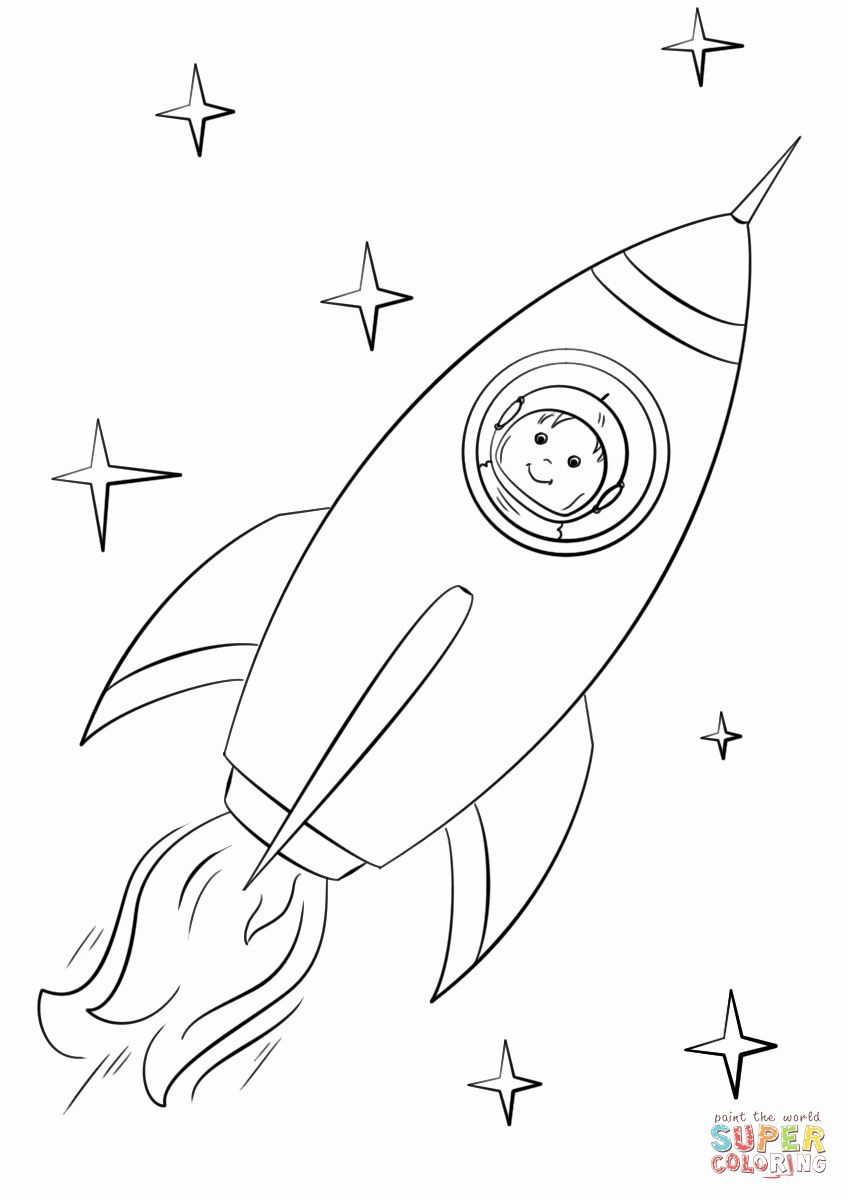 Astronaut Coloring Page Space Coloring Pages Space Preschool