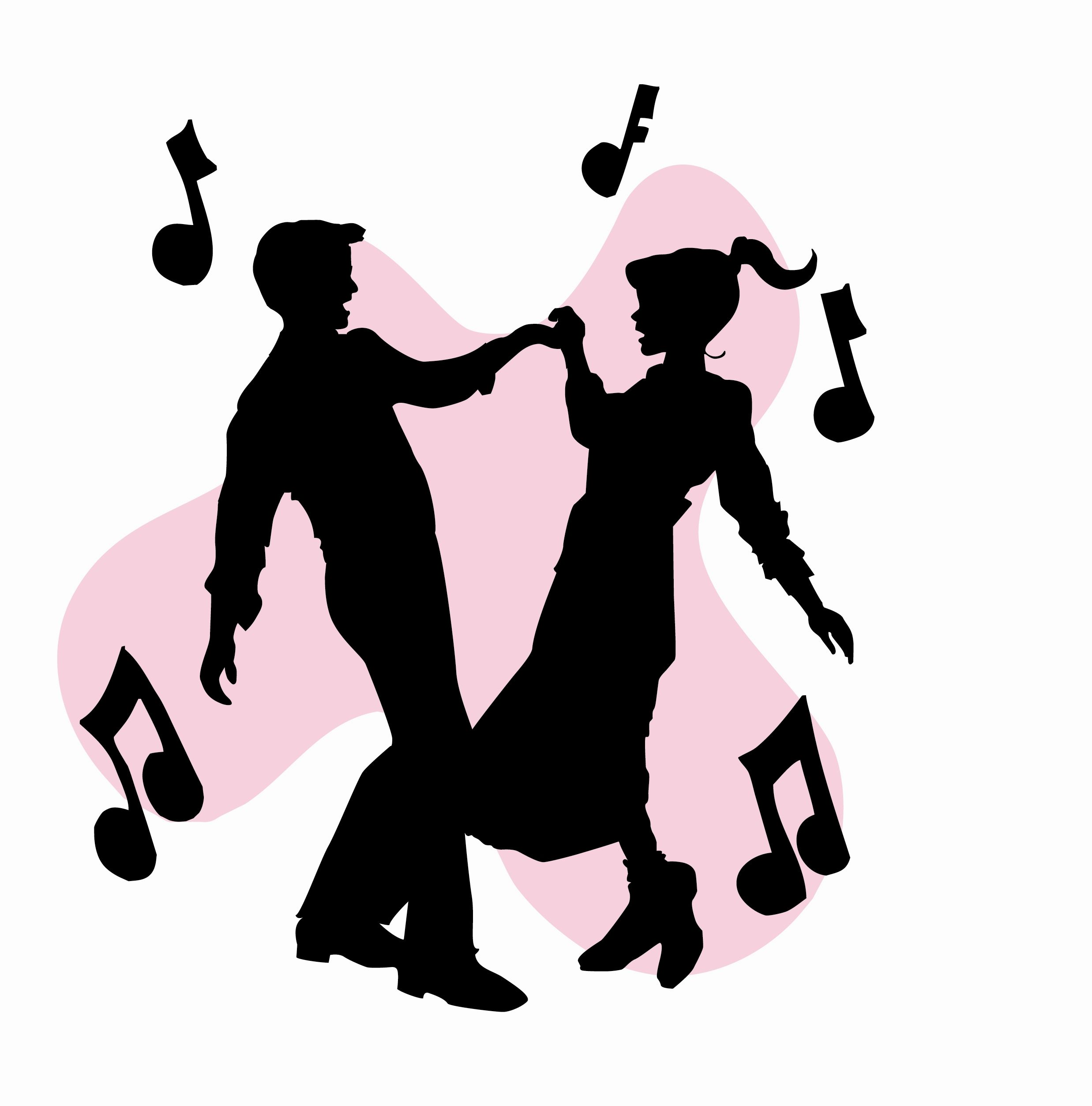 50s sock hop dancers silhouettes clipart homecoming ideas rh pinterest com  sock hop clip art free