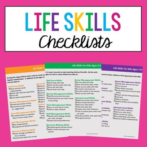 Life Skills Checklists For Kids And Teens | Teaching life ...