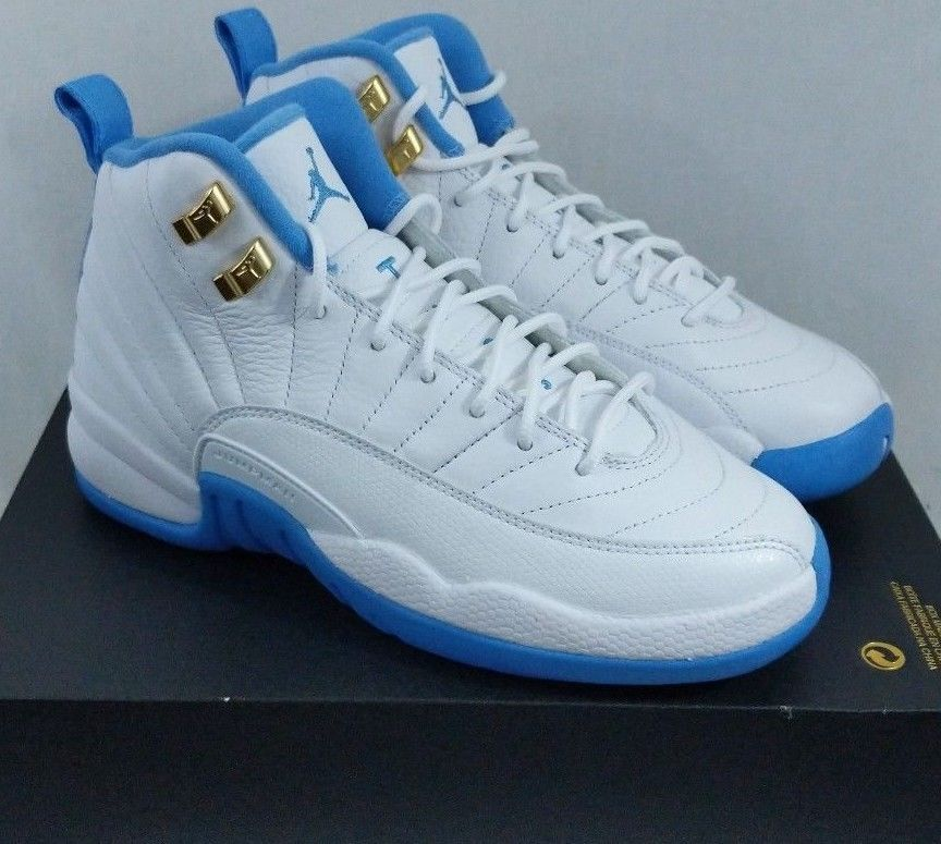 Nike Air Jordan XII 12 Retro GG Melo UNC University Blue 510815 127 Size 5Y | Unc university ...