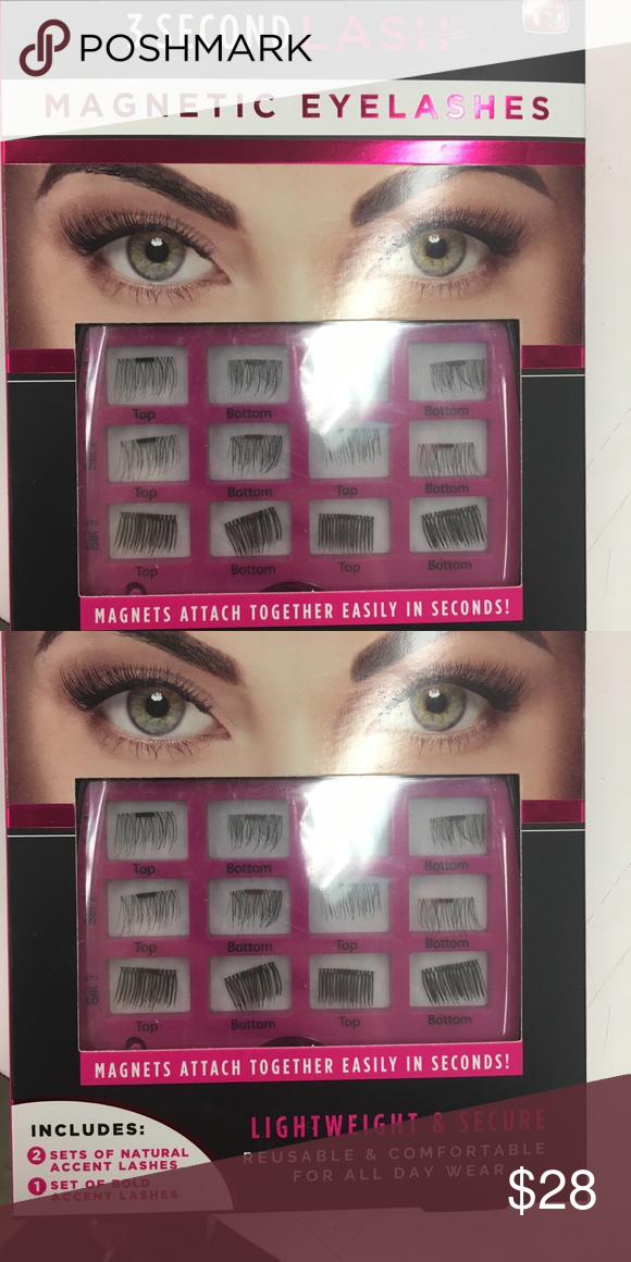 8d57b17b488 3 second magnetic lashes As seen on tv brand new never used Magnetic lashes  Originally 30
