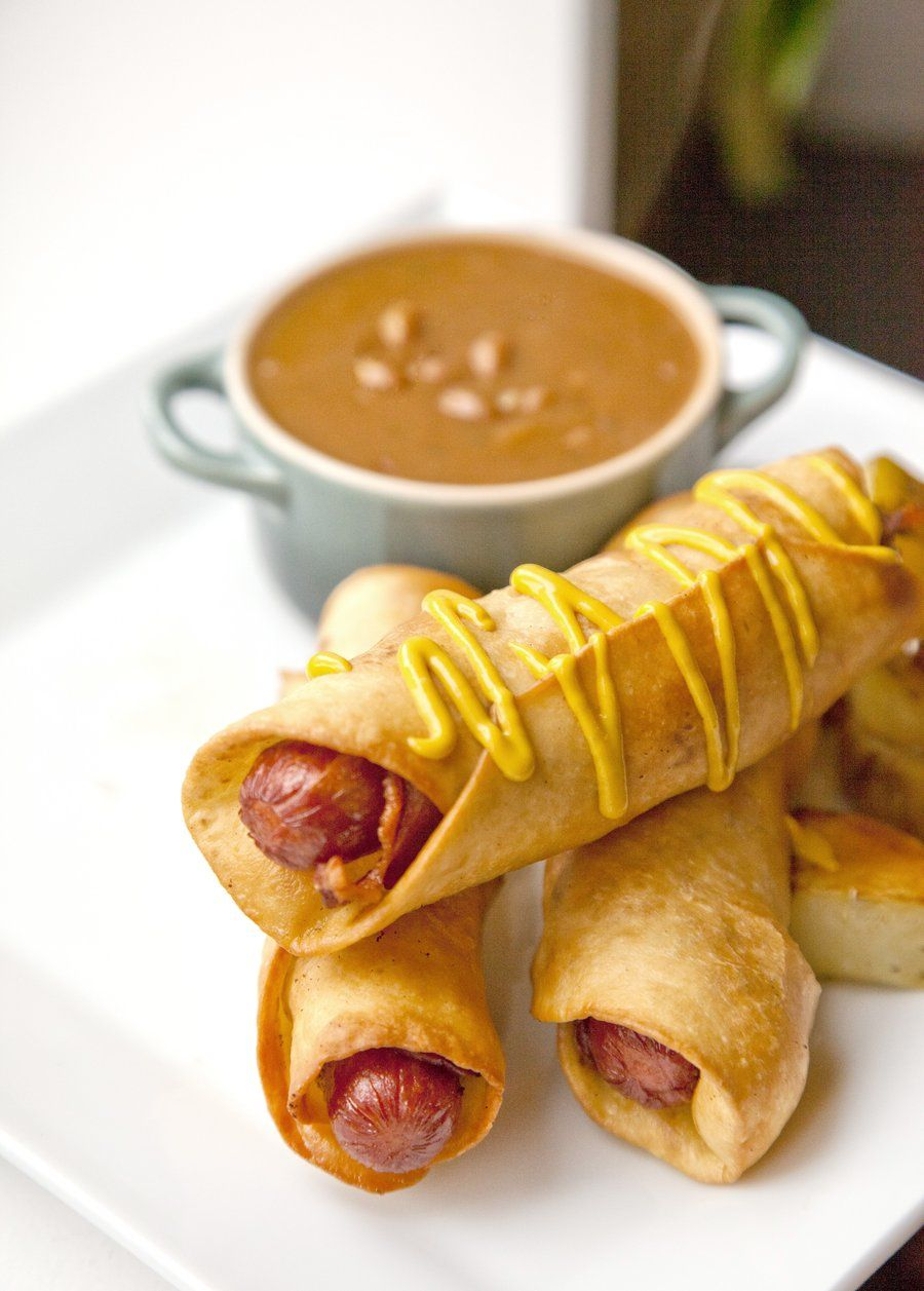 Deep Fried Bacon Wrapped Hot Dogs Recipe Deep fried