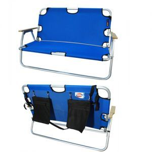 2 Person Folding Sports Couch For 89 99 Great Tail Gating Fishing Campfires Comes In Red Black And Blue