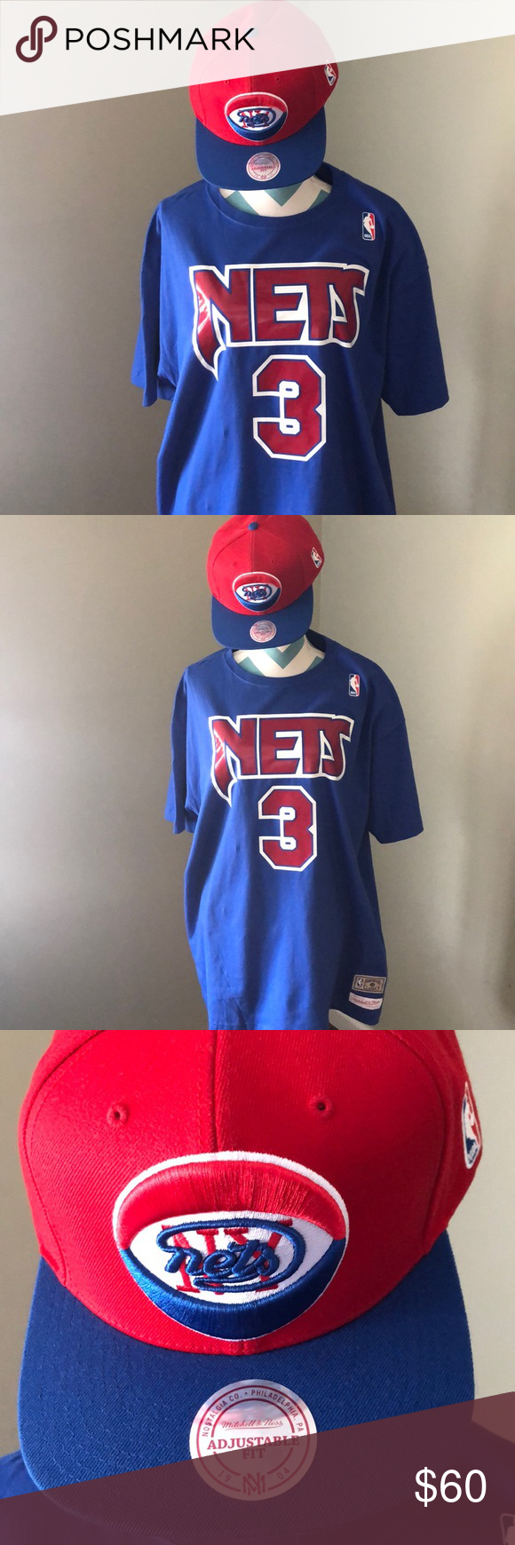 on sale eaafc 7517c Drazen Petrovic Throwback Nets t-shirt and Cap Mitchell ...