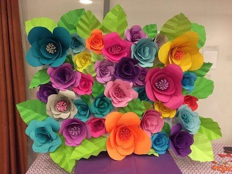 Como hacer flores de papel YouTube Manualidades Pinterest