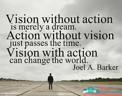 Vision without action is merely a dream. Action without ...