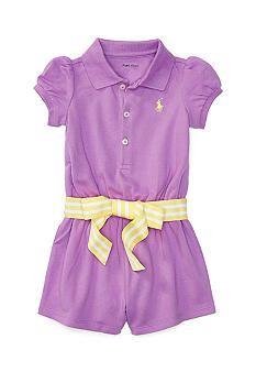 ff1adf6e9dd0 Ralph Lauren Childrenswear Stretch Polo Romper
