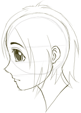 Step 07 profile faces1 How to Draw Anime & Manga Faces & Heads in Profile Side View