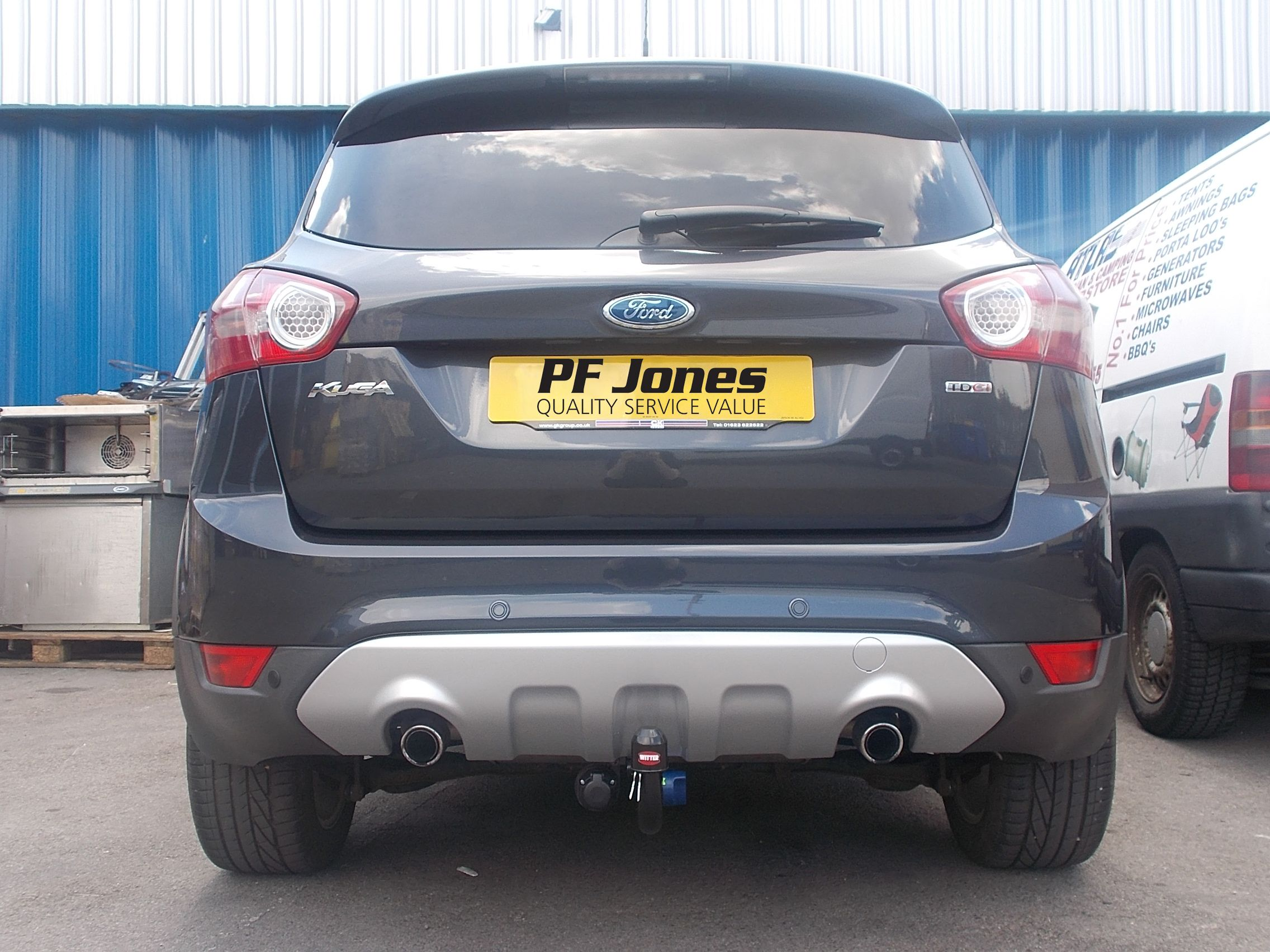 F165q witter detachable tow bar supplied and fitted on a ford kuga 2009 by pf