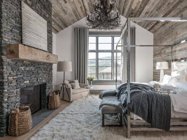 Modern Mountain Bedroom Farmhouse Style Master Bedroom Rustic
