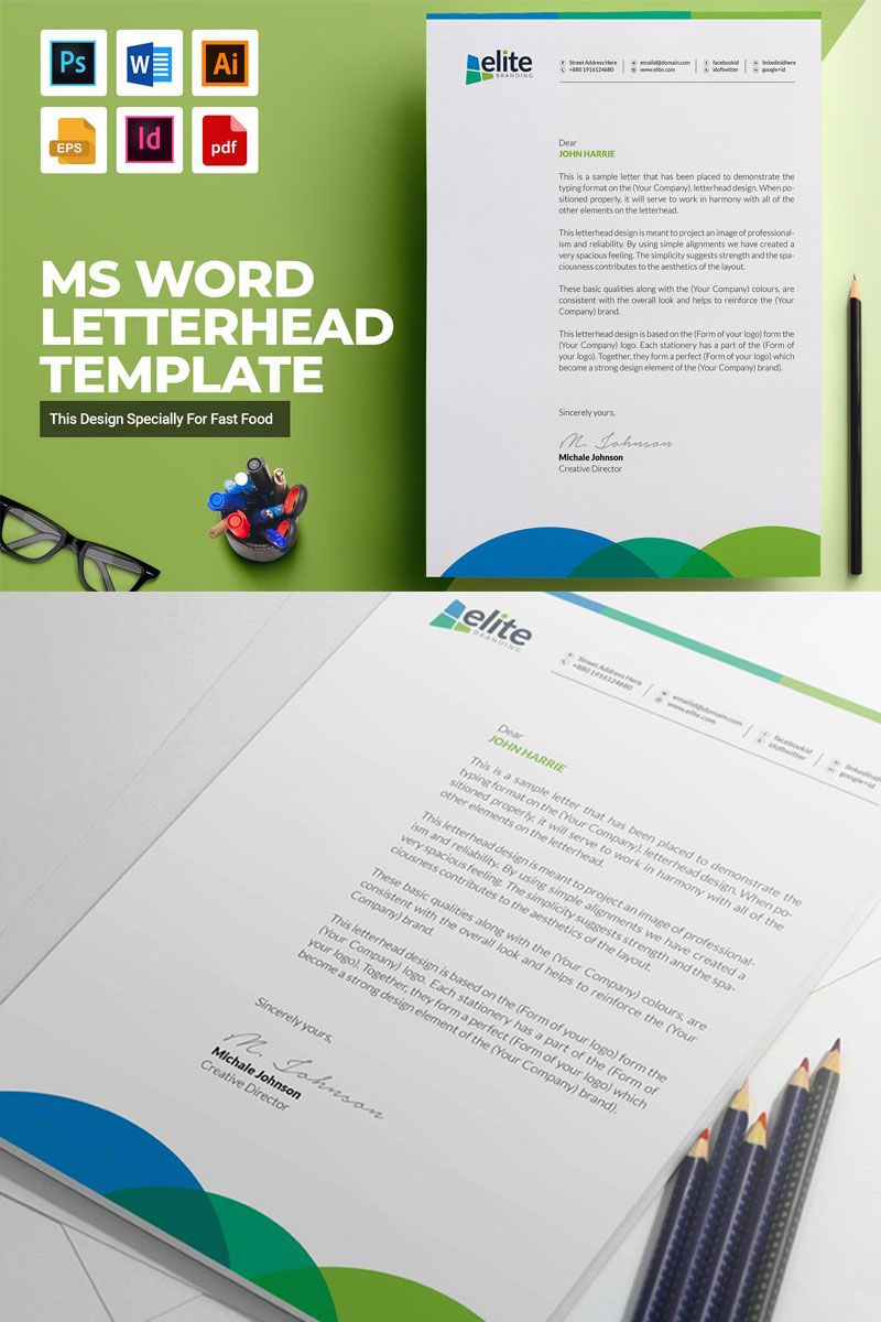 ms word letterhead corporate identity template 74863 career objective example in resume for teaching profile cost accountant sample