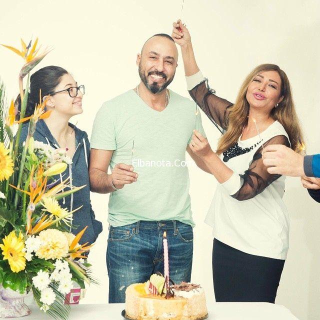 بالصور إحتفال ليلى علوي بعيد ميلاد المصور خالد فضة