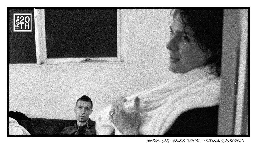 Photo 15    HANSON 2005 - Palais Theatre - Melbourne, Australia    This picture was taken backstage at the Palais Theatre in Melbourne after recording Live & Electric. Today, we want to hear stories of friends or families that went to the 2005 Australian tour together and will be going together again later this year! Feel free to tag your friends or family in your story.