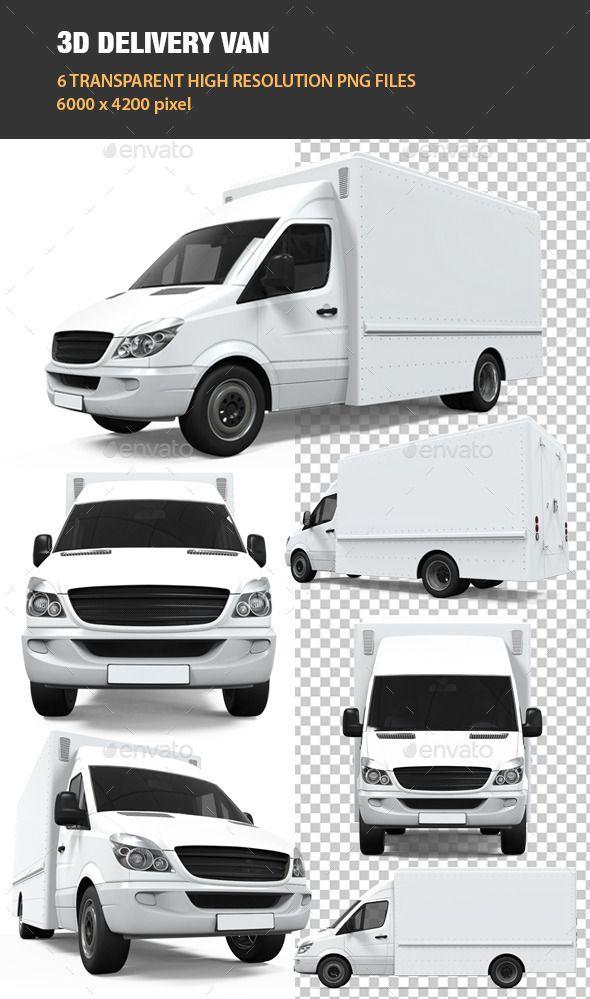 3d Delivery Van Graphics Design Ideas Graphic Design Templates