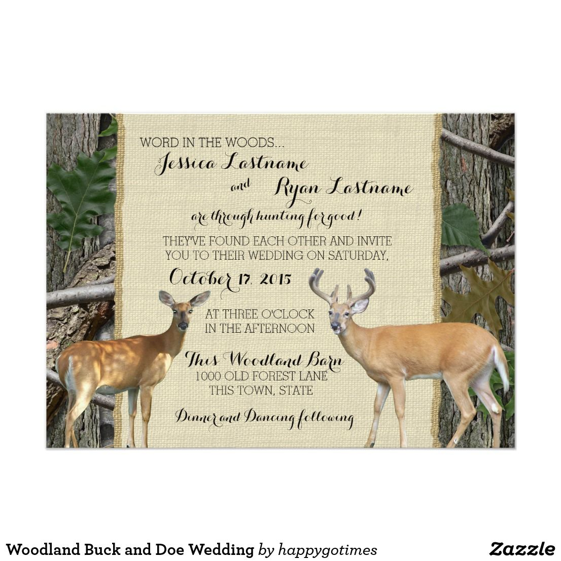 Woodland Buck and Doe Wedding | Country Wedding Inspirations ...
