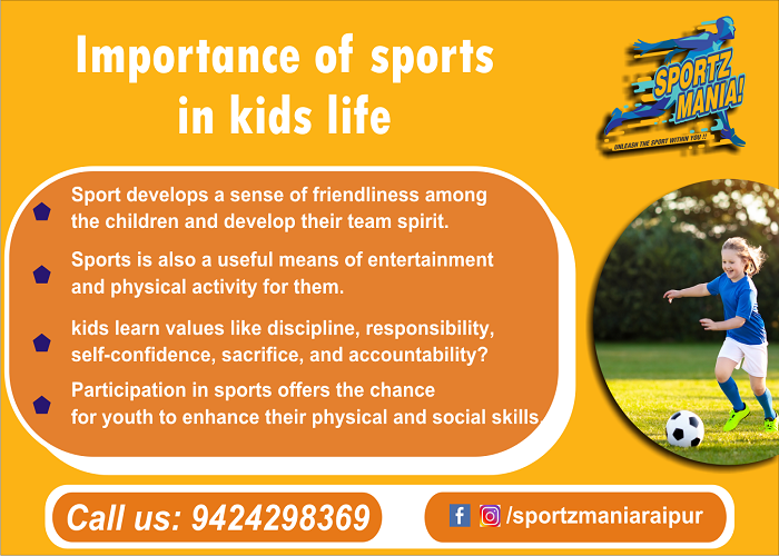 Importance Of Sports In Kids Life Playing Sport Keeps The Child Healthy Fit Playing Sports Helps Kids Healthy Fitness Healthy Kids Physical Coordination