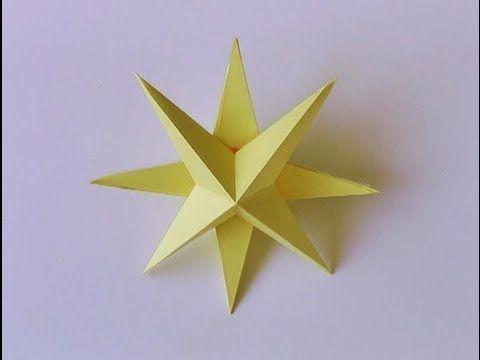 Moldes para hacer estrellas tridimensionales