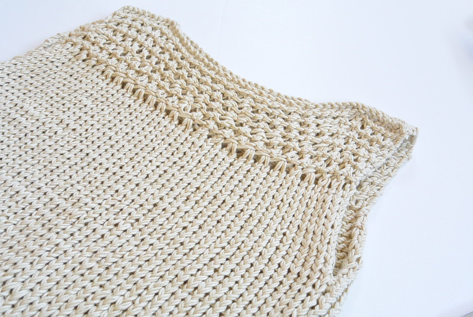 Summer Vacation Knit Top Pattern | Broomstick lace, Patterns and Summer