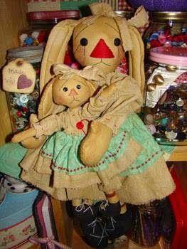 Céci EuQfiz: Maman et sa fille avec des moules de lapin