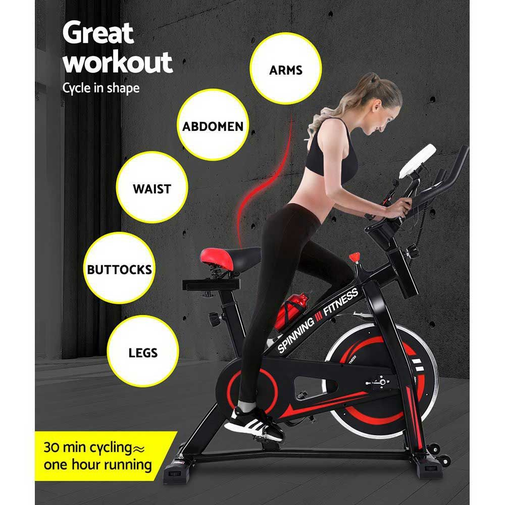 Exercise Spin Bike 11kg Flywheel With Phone Holder Commercial Home