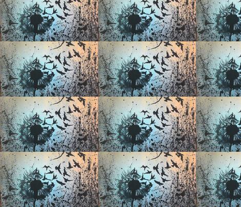 Wulan's Dandelion fabric by love_art_wonders on Spoonflower - custom fabric