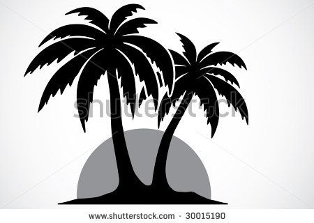 Palm Tree Palm Tree Silhouette Tree Stencil Tree Drawing