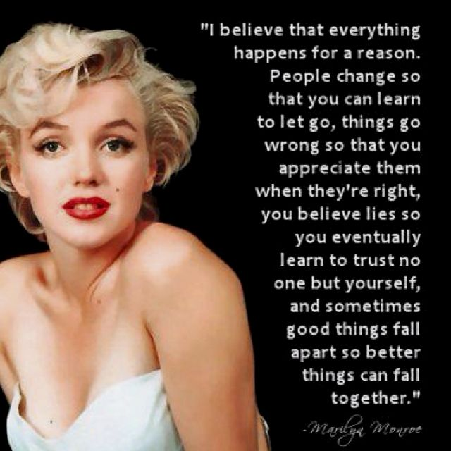 Marilyn Monroe Quote Quotes To Live By Quotes Love Quotes