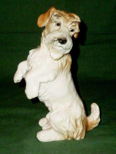 Alte-ENS-Porzellanfigur-Terrier-Figurine-Porzellanhund-Volkstedt-Figur-Hund-dog Approximately £117.06