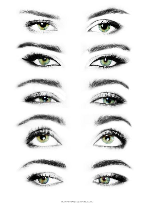Drawing Eyes Looking Up