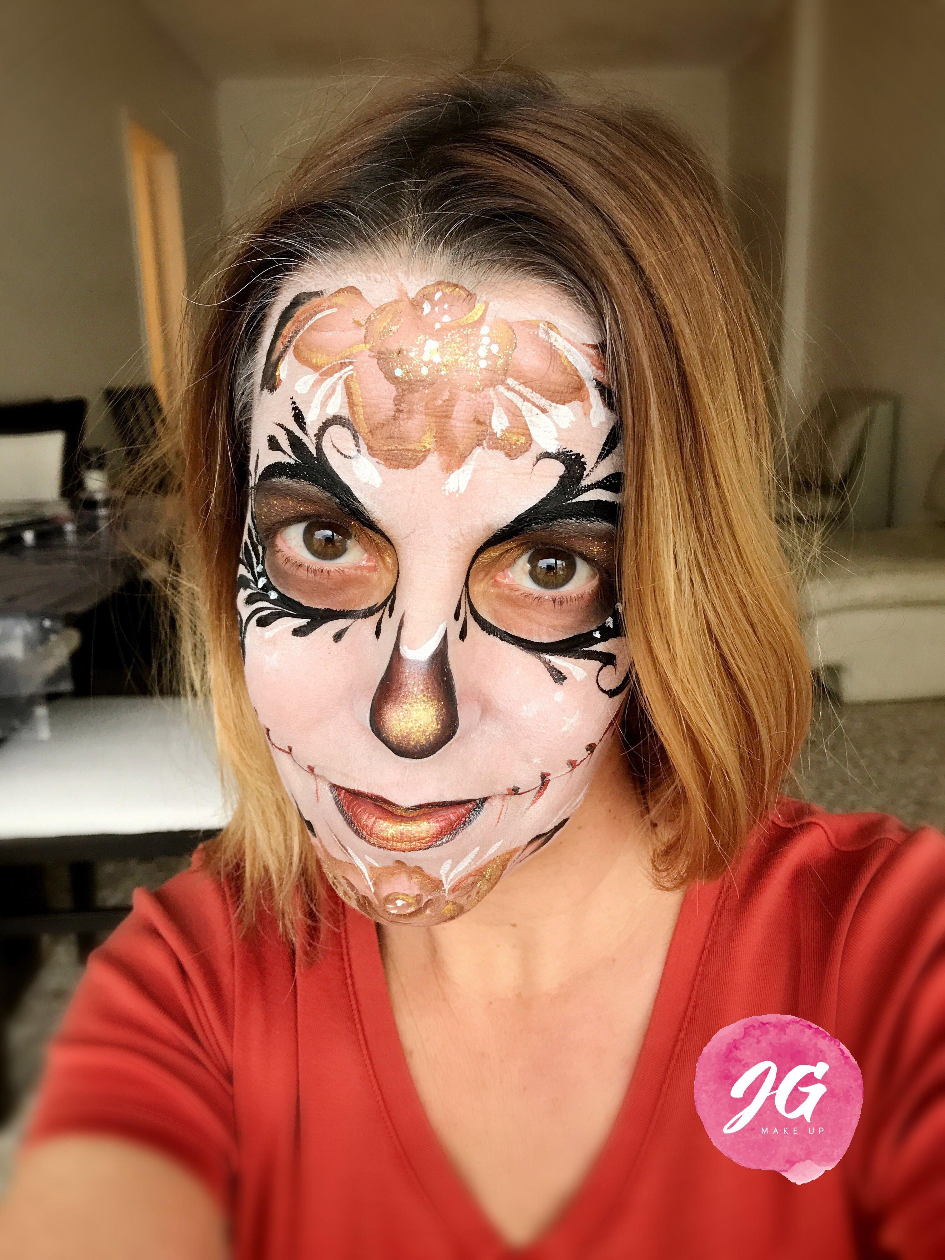 Sugar Skull facepainting. Maquillaje calavera de Azúcar