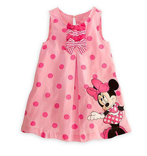 c263b7a593436 Frete grátis vestido de verão crianças Minnie Mouse rosa vestido de ...