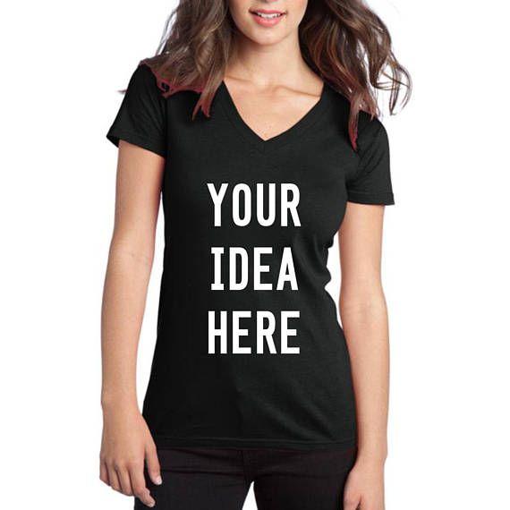 713895ad552 Custom T-shirt Womens Custom Vneck Shirt Birthday Personalized T ...