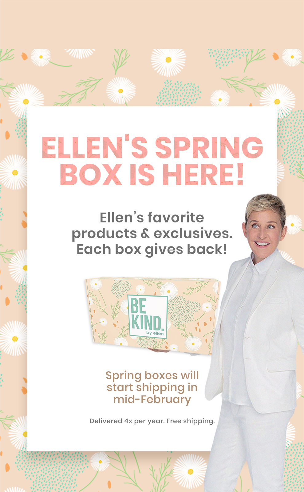 Be Kind By Ellen Subscription Box In 2020 Subscription Boxes Kindness Box