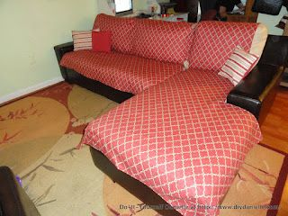 How To Sew An L Shaped Couch Cover Diy Danielle Diy Couch Cover L Shaped Couch Couch Covers