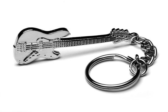 Fender Bass Guitar Keychain/Keyring  Great by CandyStoreRockGifts