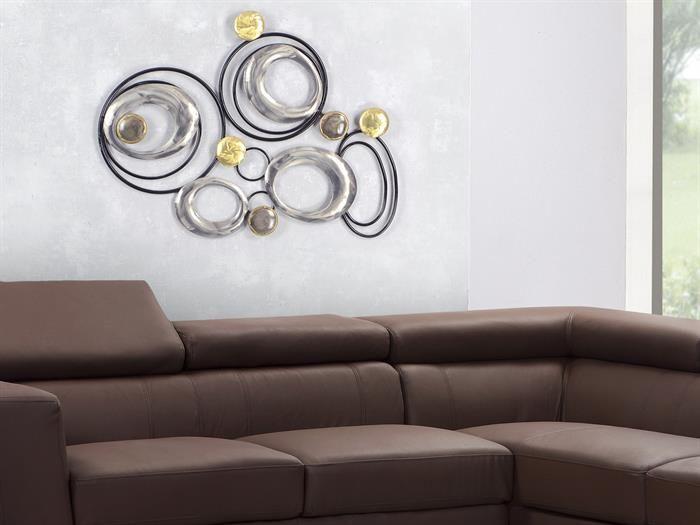 Formano - WAND-DEKO Design Art - Kreise I aus Metall Breite 63cm - wohnzimmer deko wand