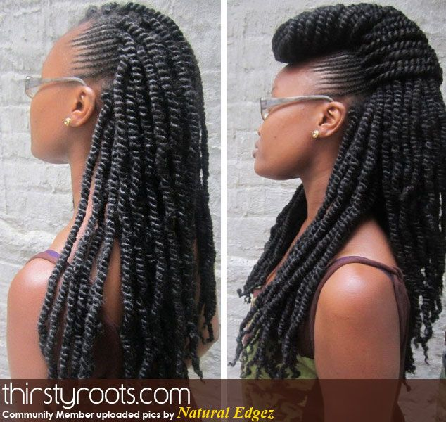 kinky twists and braids | Black hairstyles, Mohawks and