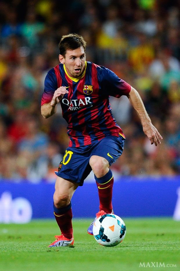 Soccer Players Messi Barcelona v Santos - P...