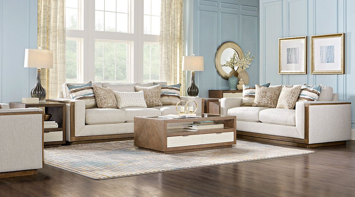 Best Cindy Crawford Home Pacific Harbor Beige 5 Pc Living Room 400 x 300