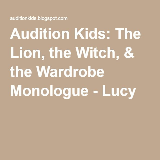 Audition Kids: The Lion, the Witch, & the Wardrobe Monologue - Lucy