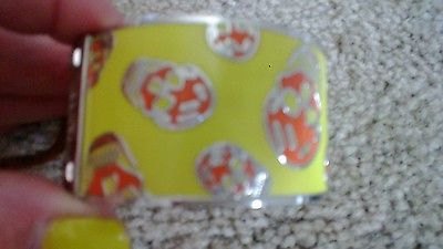 Alexander McQueen Bracelet Yellow/Orange enamel Pristine condition - http://designerjewelrygalleria.com/alexander-mcqueen/alexander-mcqueen-bracelet-yelloworange-enamel-pristine-condition-2/